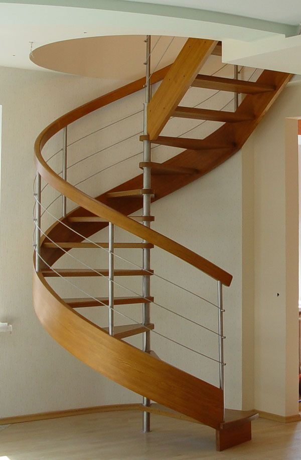 Captivating Spiral Stairs With Steel Ballusters