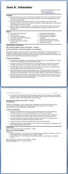 Social Worker Resume Sample Templates CMA\/Social Services - worker resume