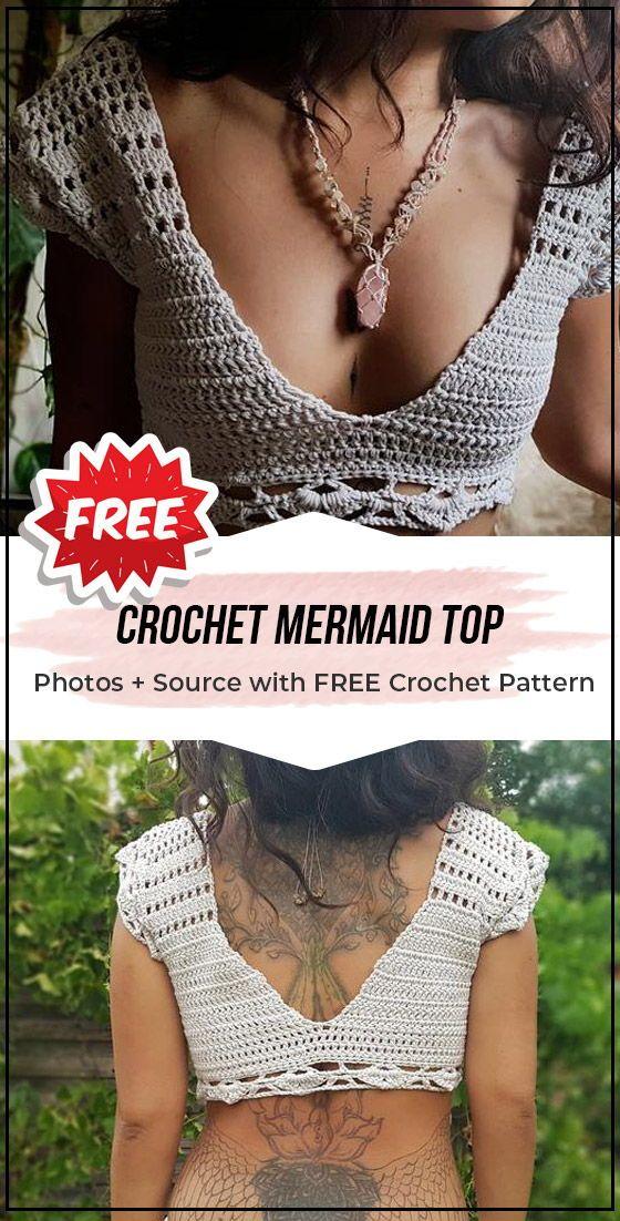 Crochet Mermaid Top easy pattern