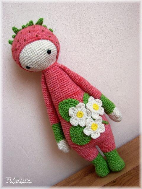 Amigurumi Strawberry Doll Pattern : Lalylala strawberry mod crochet Pinterest Strawberries