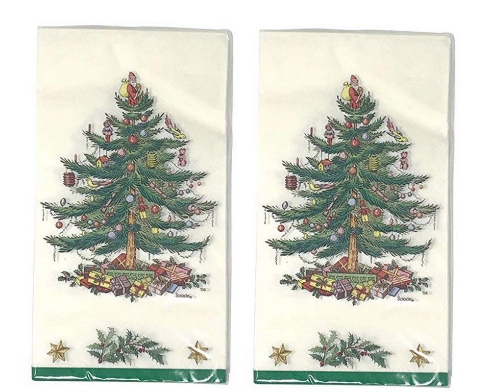 Spode Christmas Tree Paper Napkins Guest Towels Dinner Buffet 2 Packs Of 16 Spode Spode Christmas Tree Spode Christmas Christmas Tree Design