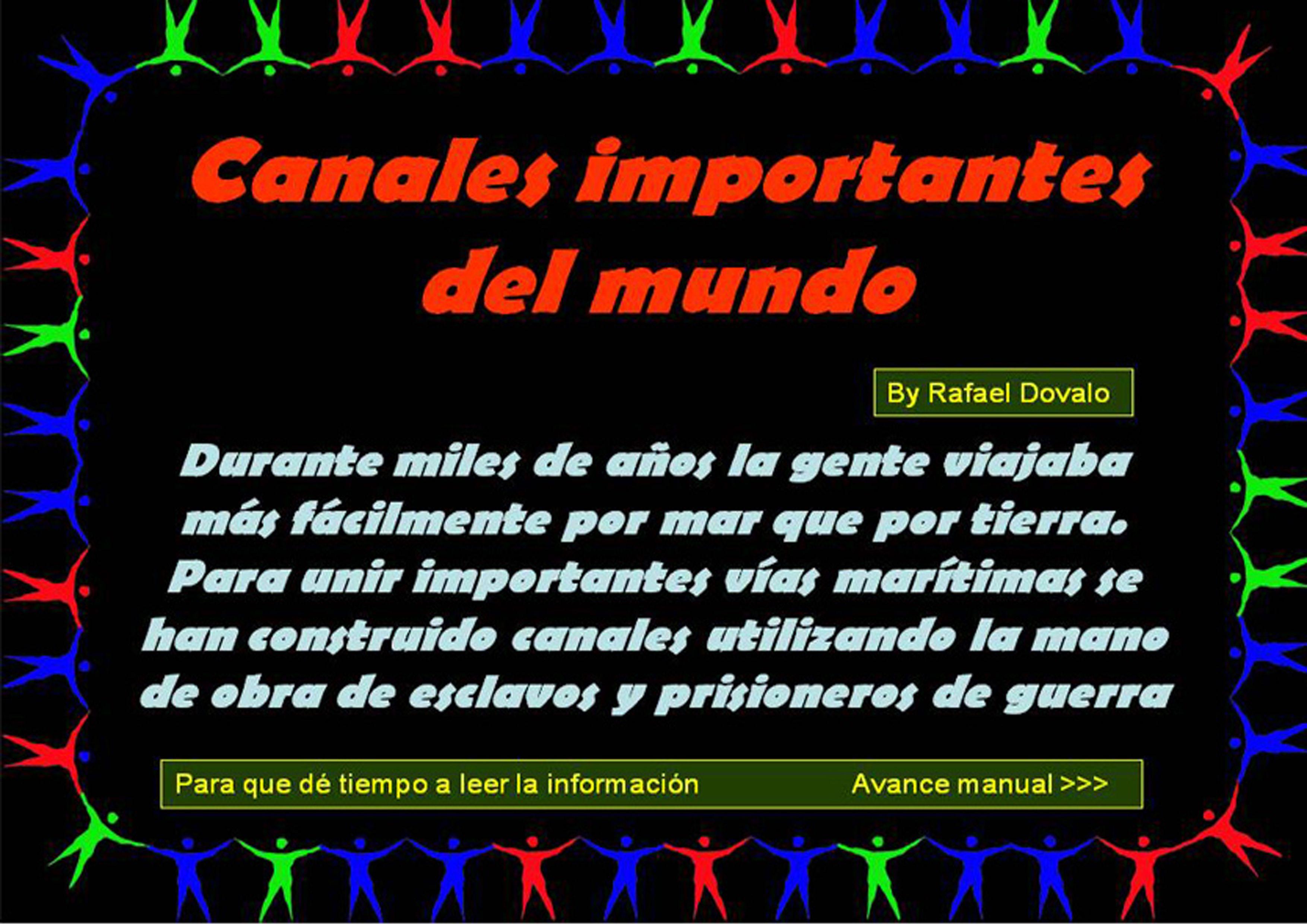 CANAIS IMPORTANTES DO MUNDO