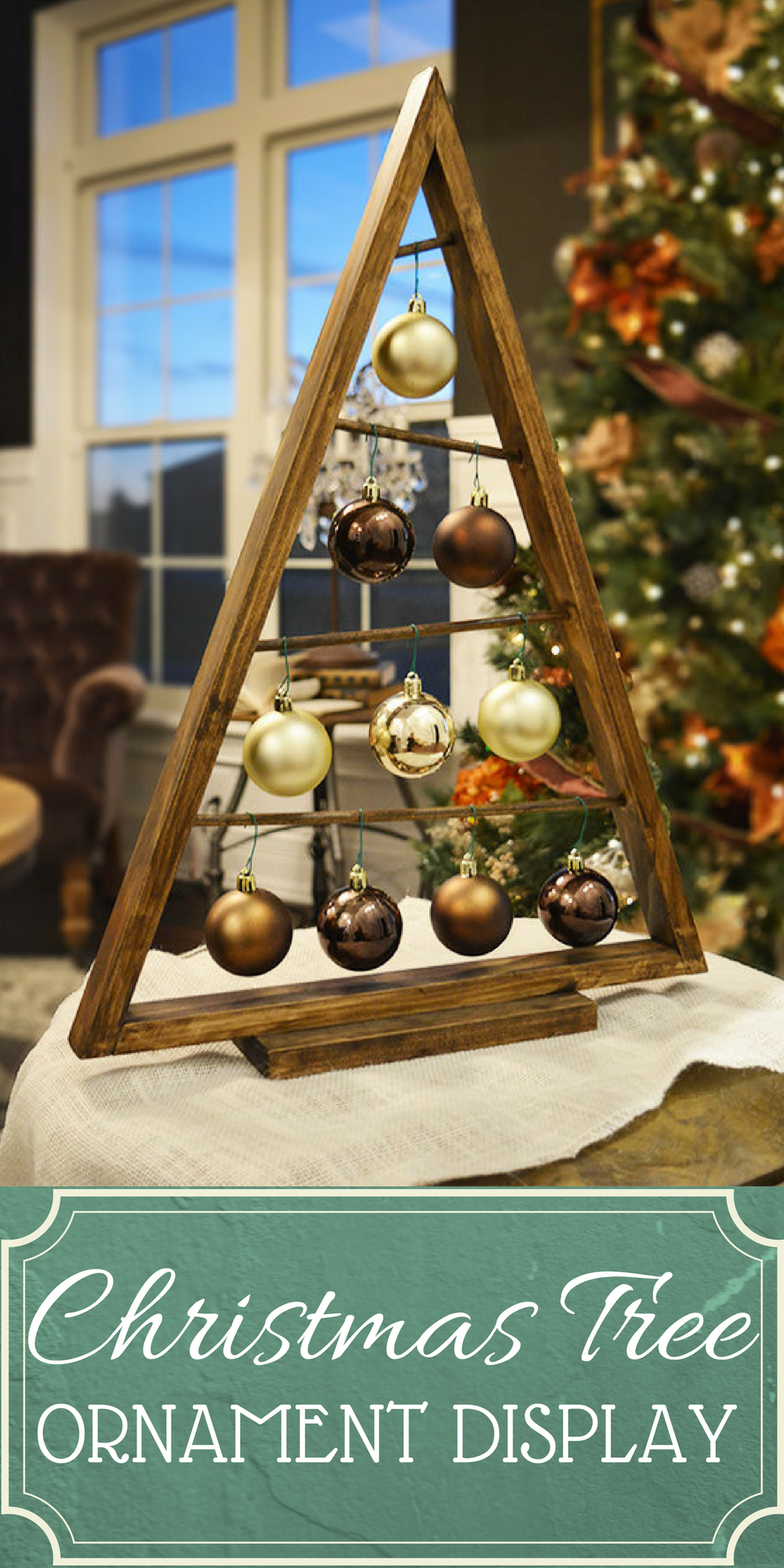 Christmas Tree Ornament Display  This Beautiful Wood Tree Can