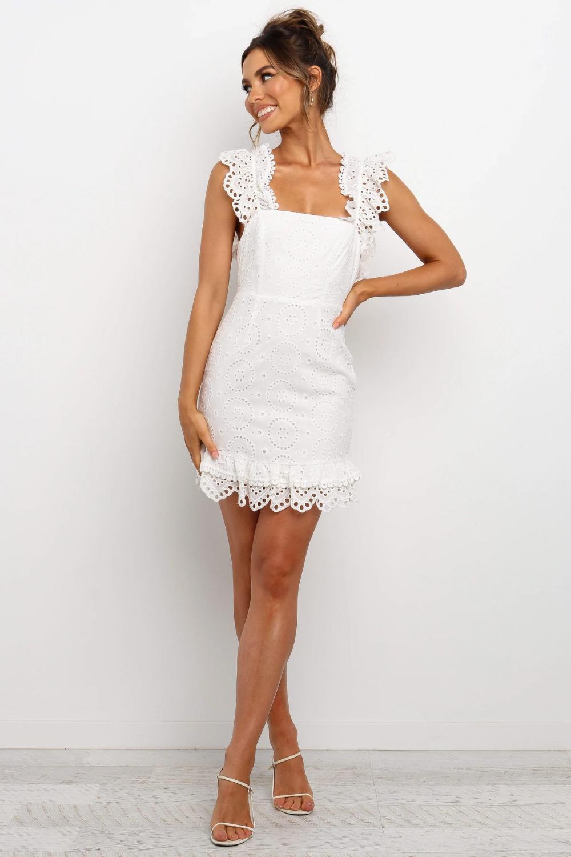 Nakiyah Dress White White Dress White Dresses Graduation Dresses [ 1500 x 1000 Pixel ]