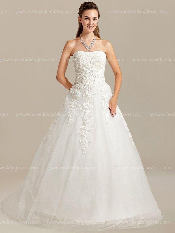 Strapless Elegant Wedding Dress Ball Gown DE457 | Ball gowns ...