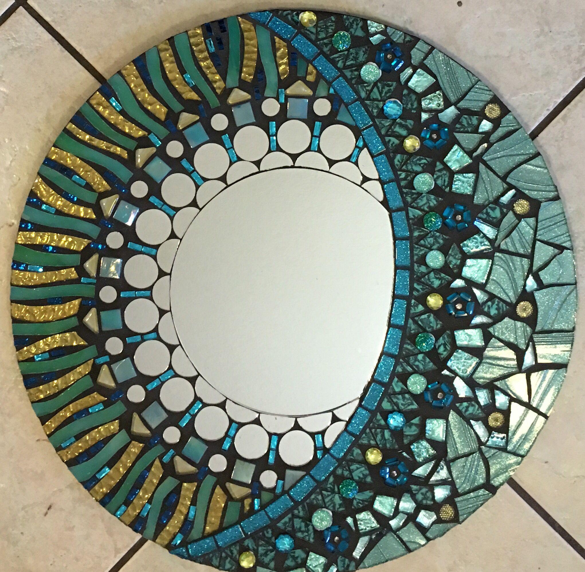 Glitter Mirror Frame Diy
