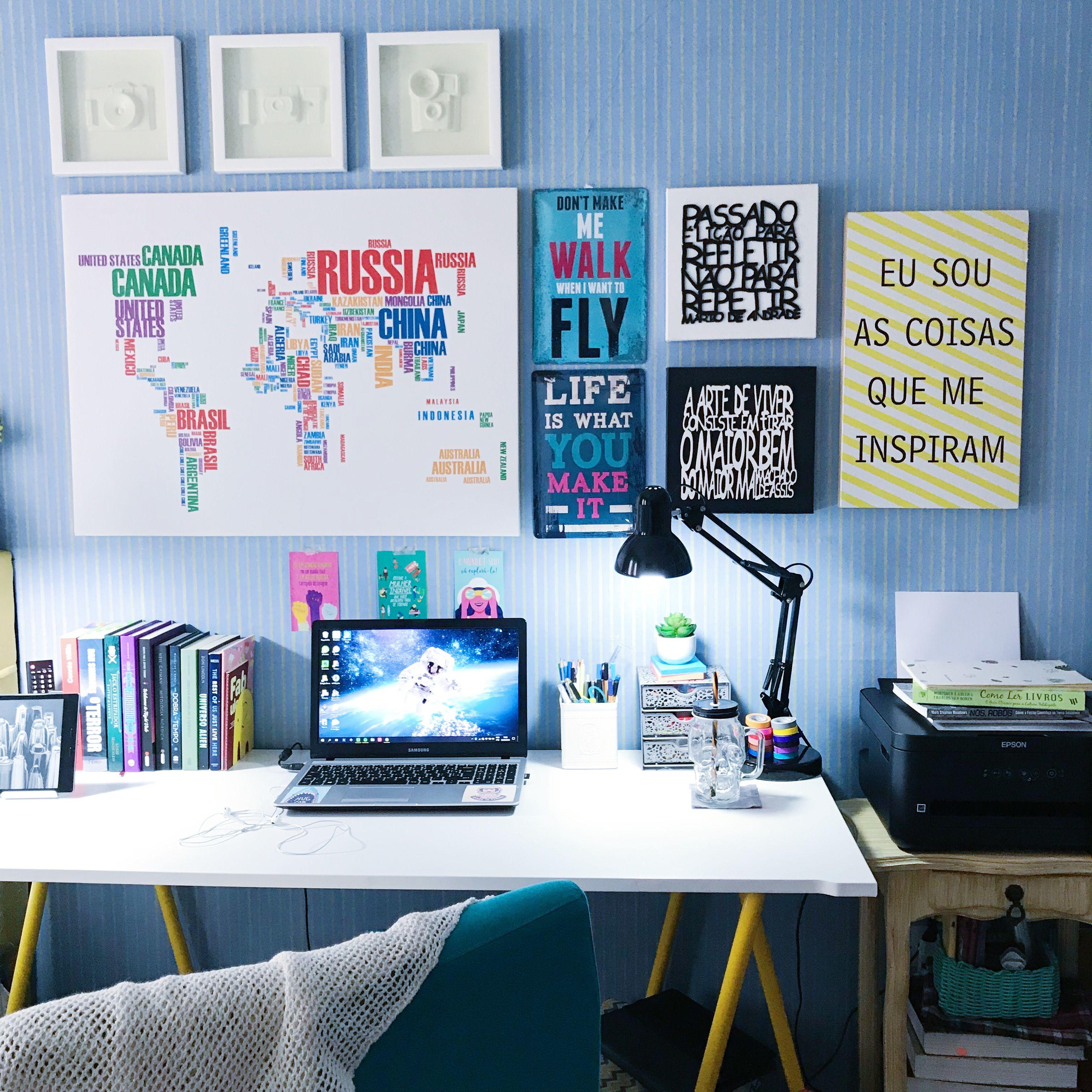 #Decora O #Decor #Quarto #Desk #Mesa