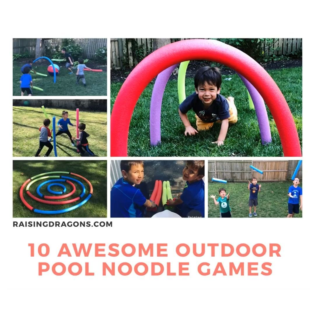 10 Outdoor Pool Noodle Games  Raising Dragons 10 Outdoor Pool Noodle Games  Raising Dragons These 10 pool noodle outdoor games for kids are super simple to set up and wil...