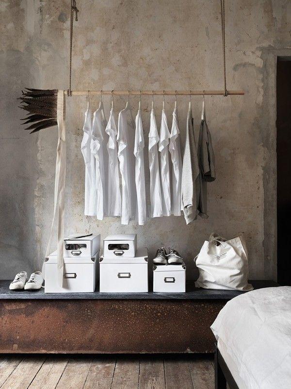 hanging closet Home Vibes Pinterest Kleiderordnung - garderobe selber bauen schner wohnen