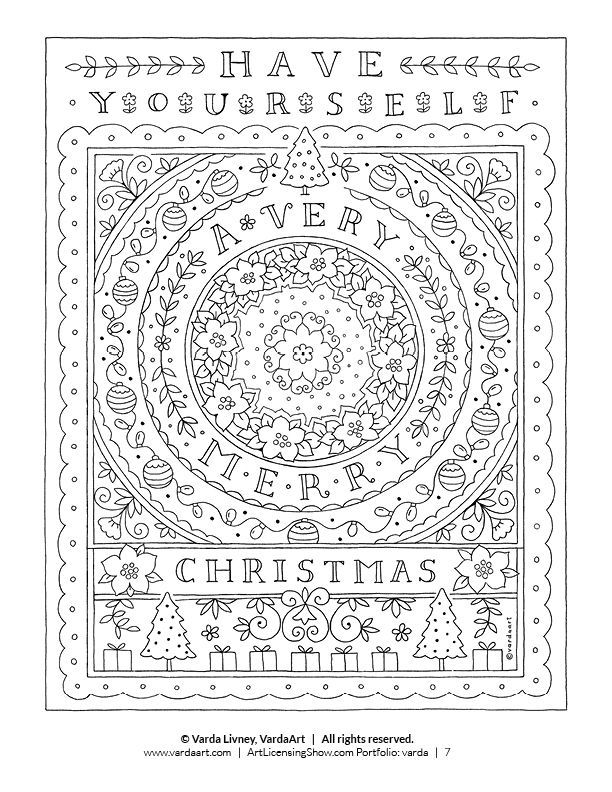 Free 92 Page Holiday Coloring Book Artlicensingshow Com Your 24 7 Virtual Art Licensing Show Holiday Coloring Book Christmas Coloring Books Free Christmas Coloring Pages