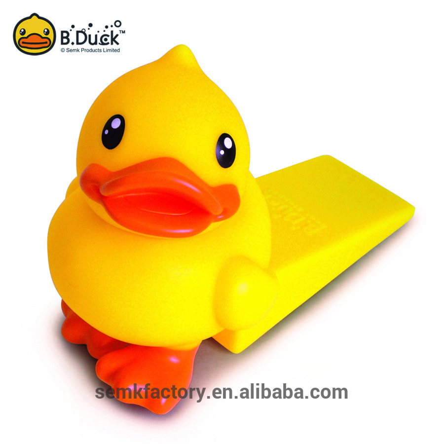 Bduck Novelty Yellow Duck Shaped Rubber Stopper For Sliding Glass
