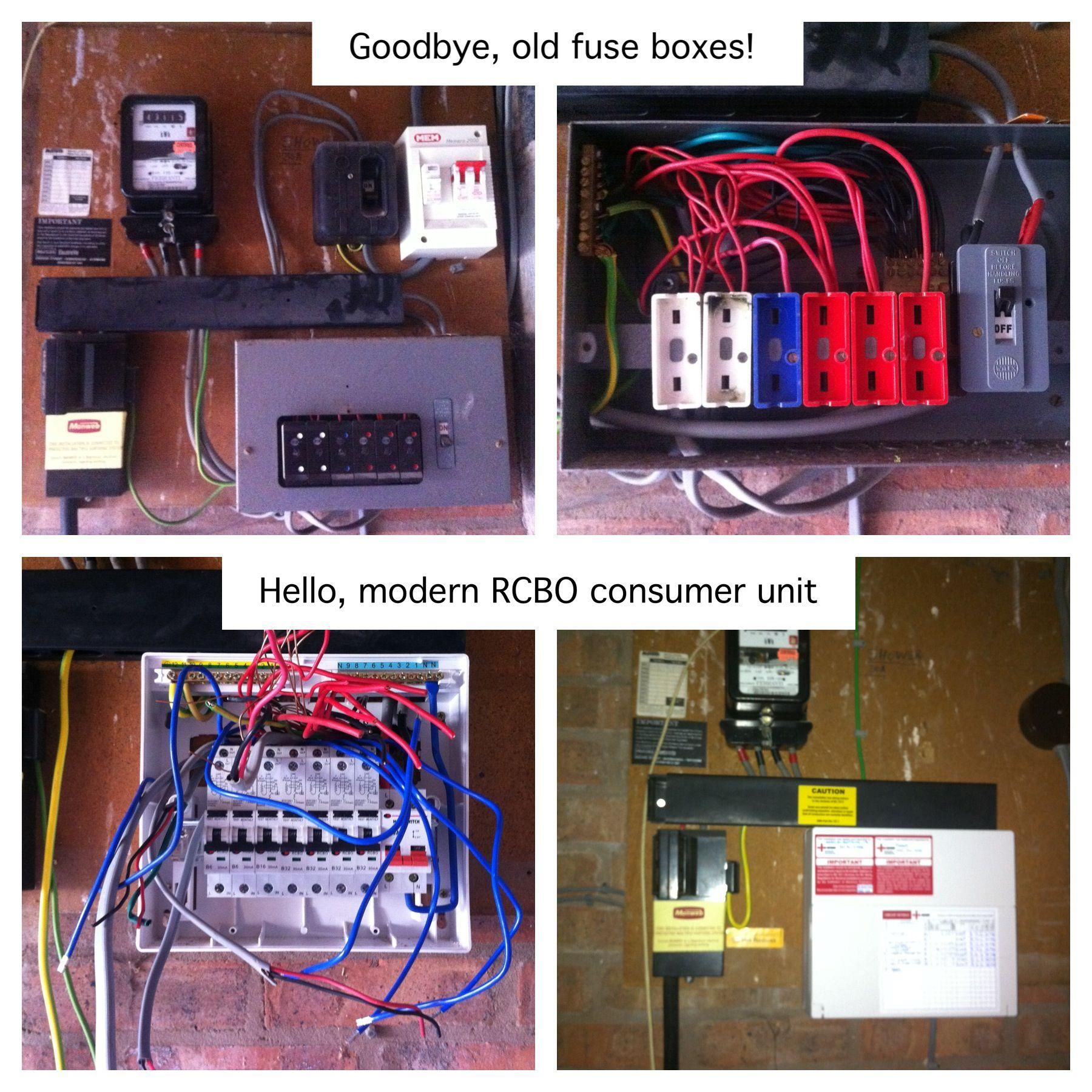 small resolution of goodbye old wylex fusebox changing a fusebox the unit changegoodbye old wylex fusebox
