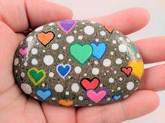 Easy Paint Rock zum Ausprobieren (Stone Art & Rock Painting Ideas) #rockpainting