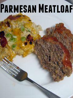 Parmesan Meatloaf. No bread crumbs or flours. Not even almond flour.