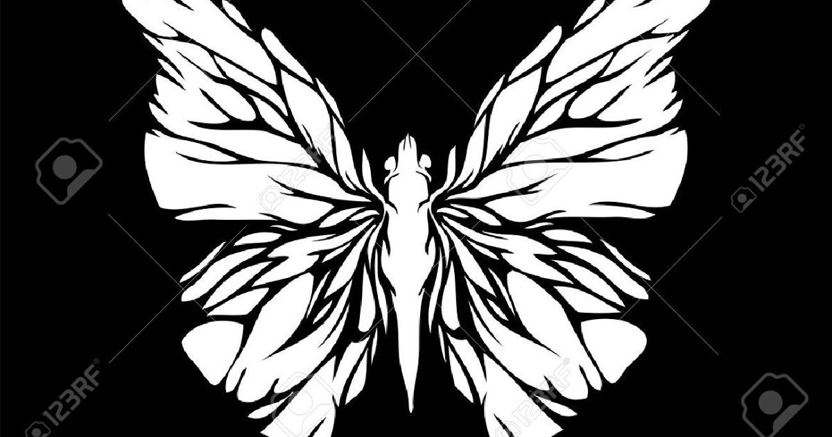 Download White Butterfly On Black Background Royalty Free Cliparts Vectors Download Butterfly Whi Butterfly Drawing Butterfly Illustration Black Backgrounds