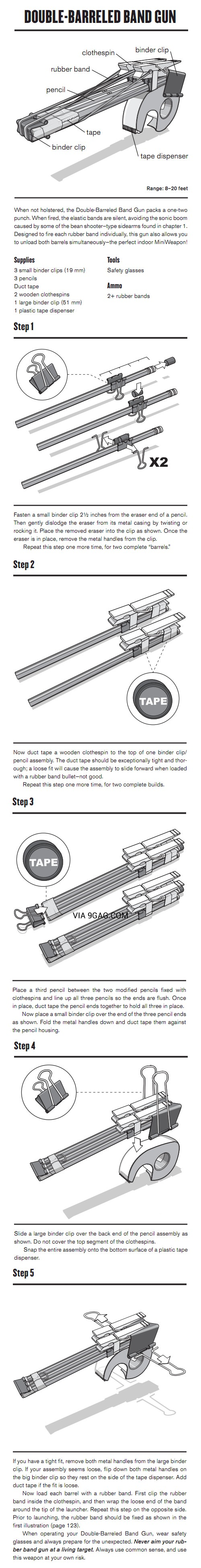 I need to make this Double-Barreled Band Gun!