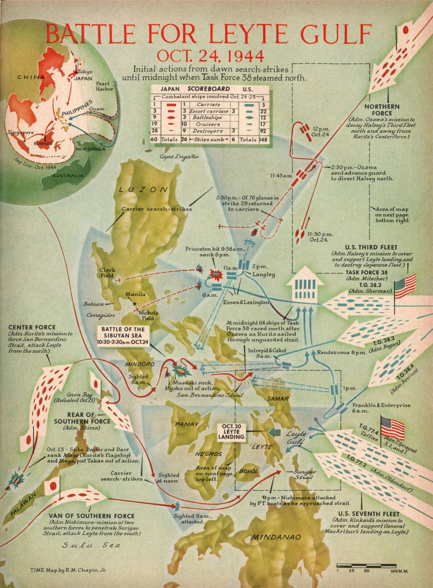 This vintage map shows the greatest battle in the history of naval it was the largest naval battle of the second world war and it involved combined american and australian naval and air forces against japanese gumiabroncs Choice Image