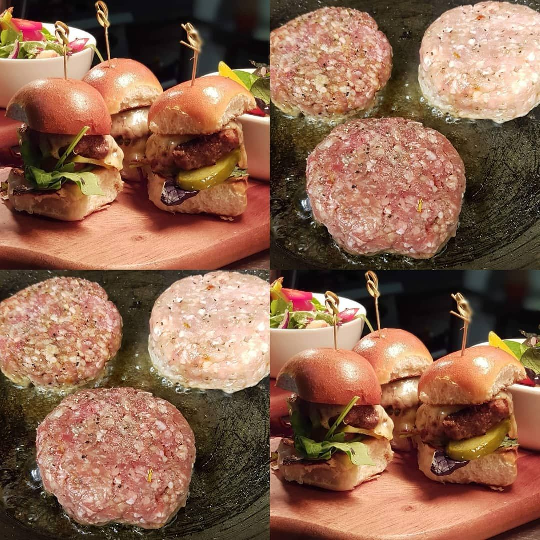 Trio mini burgers  Lamb beef pork Weekend bar specials