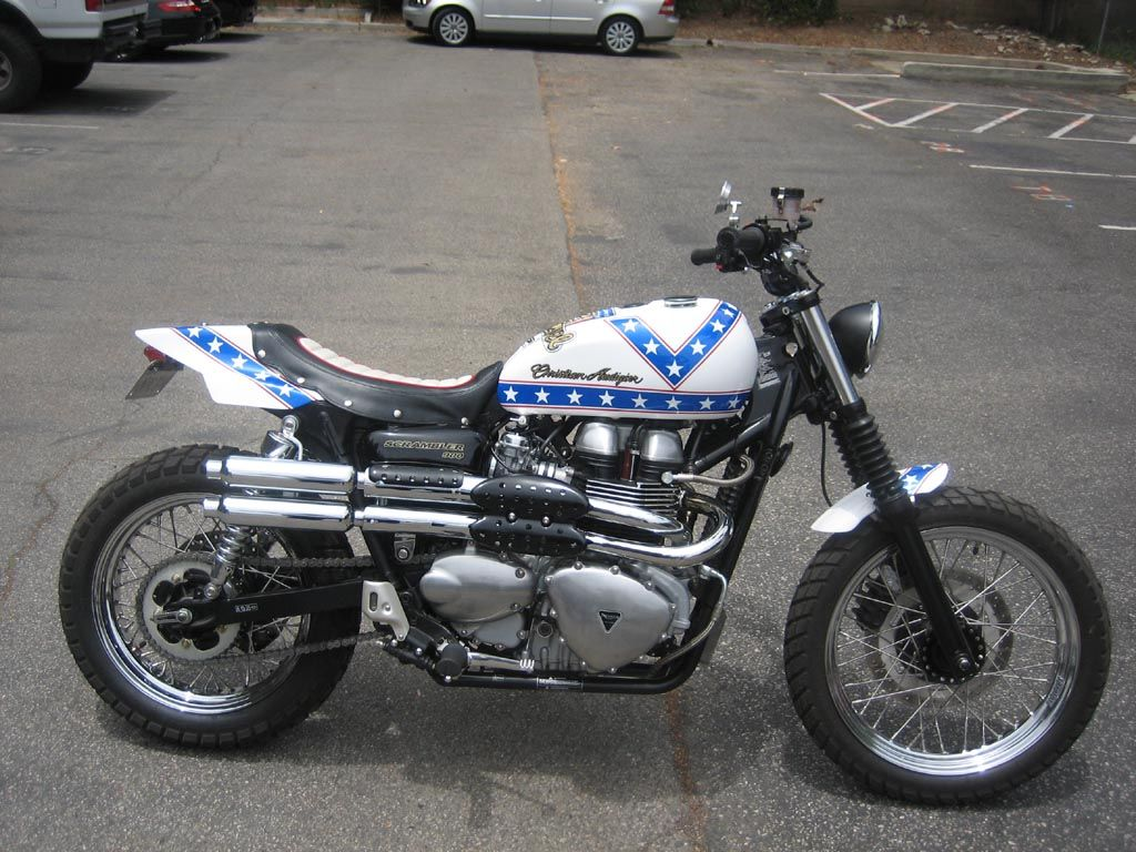Famous Evel Knievel Bike At Auction: Evel Knievel Triumph Scrambler