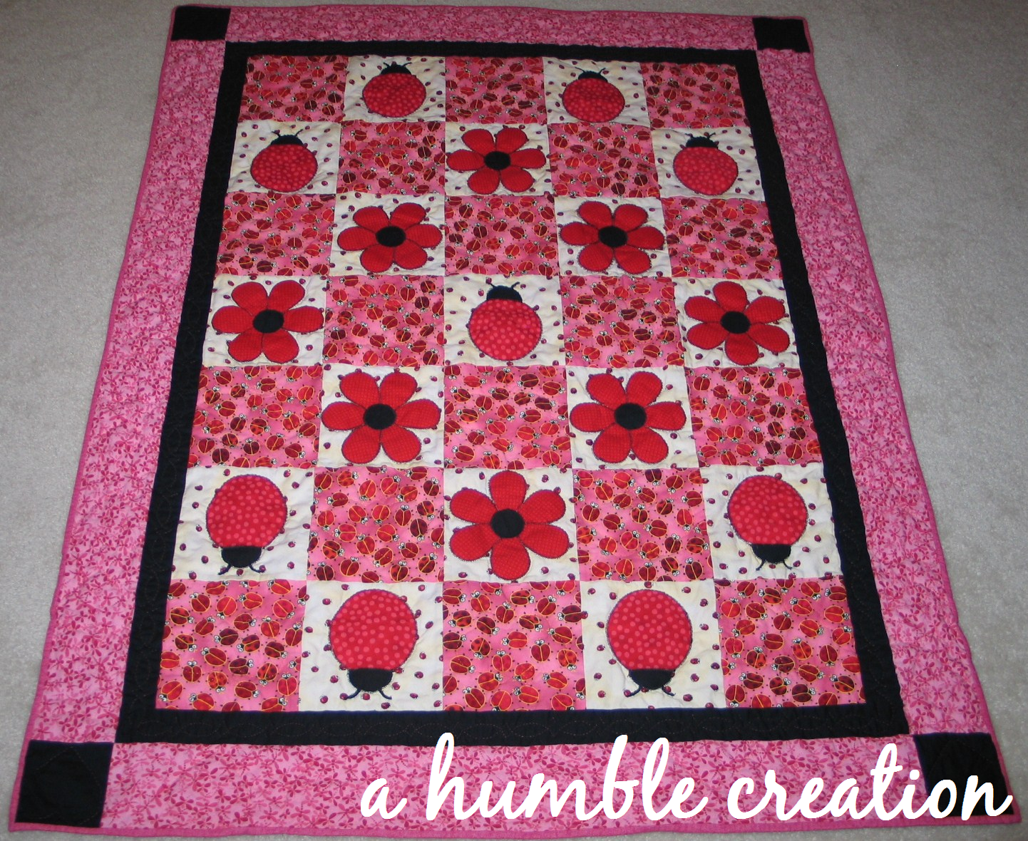 ladybug quilt patterns - Google Search | baby quilts | Pinterest ... : lady bug quilts - Adamdwight.com