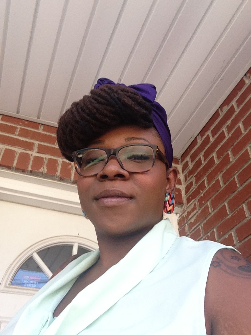 Loc bangs and scarfs locs and glasses happy to be nappy