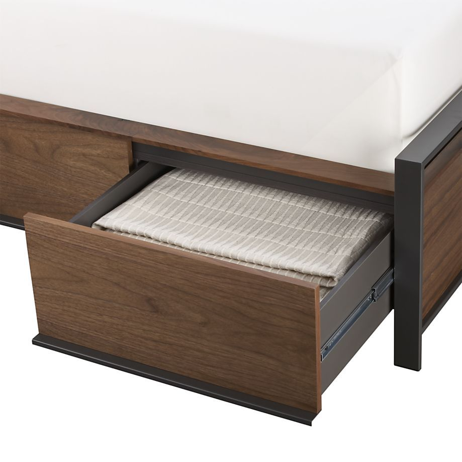 Bowery Queen Storage Bed | Crate and Barrel | bed frames | Pinterest