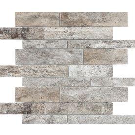 Anatolia Tile Silver Ash Linear Mosaic Natural Stone