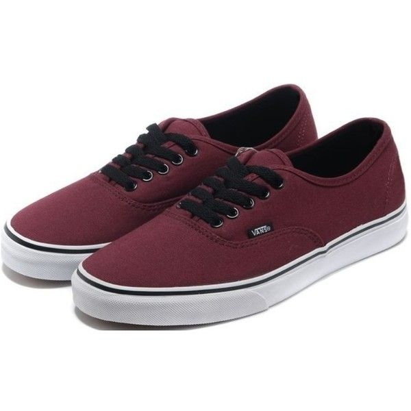 Vans Shoes Burgundy Authentic Womens/Mens Classic Canvas Sneakers ($51) via Polyvore featuring mens, men's shoes and men's sneakers