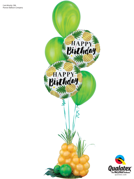 Hawaiian Balloons Luau Party Pineapple Party Decoration Summer Birthday Party Tropical Balloons PINEAPPLE BALLOONS Fruit Balloons