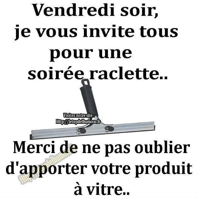 photo drole raclette