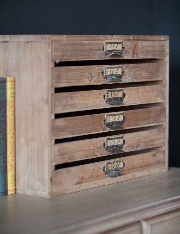 Vintage Style Filing Tray Filing Cabinets, Desk Accessories, Drawer  Shelves, Vintage Fashion,