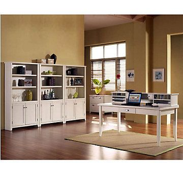 Tribeca loft white office suite ofg ex1118 home office for Tribeca homes furniture