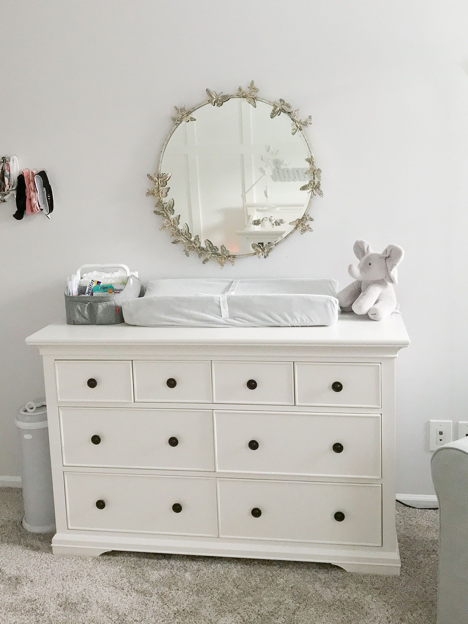 Lavender And Grey Baby Nursery Tour