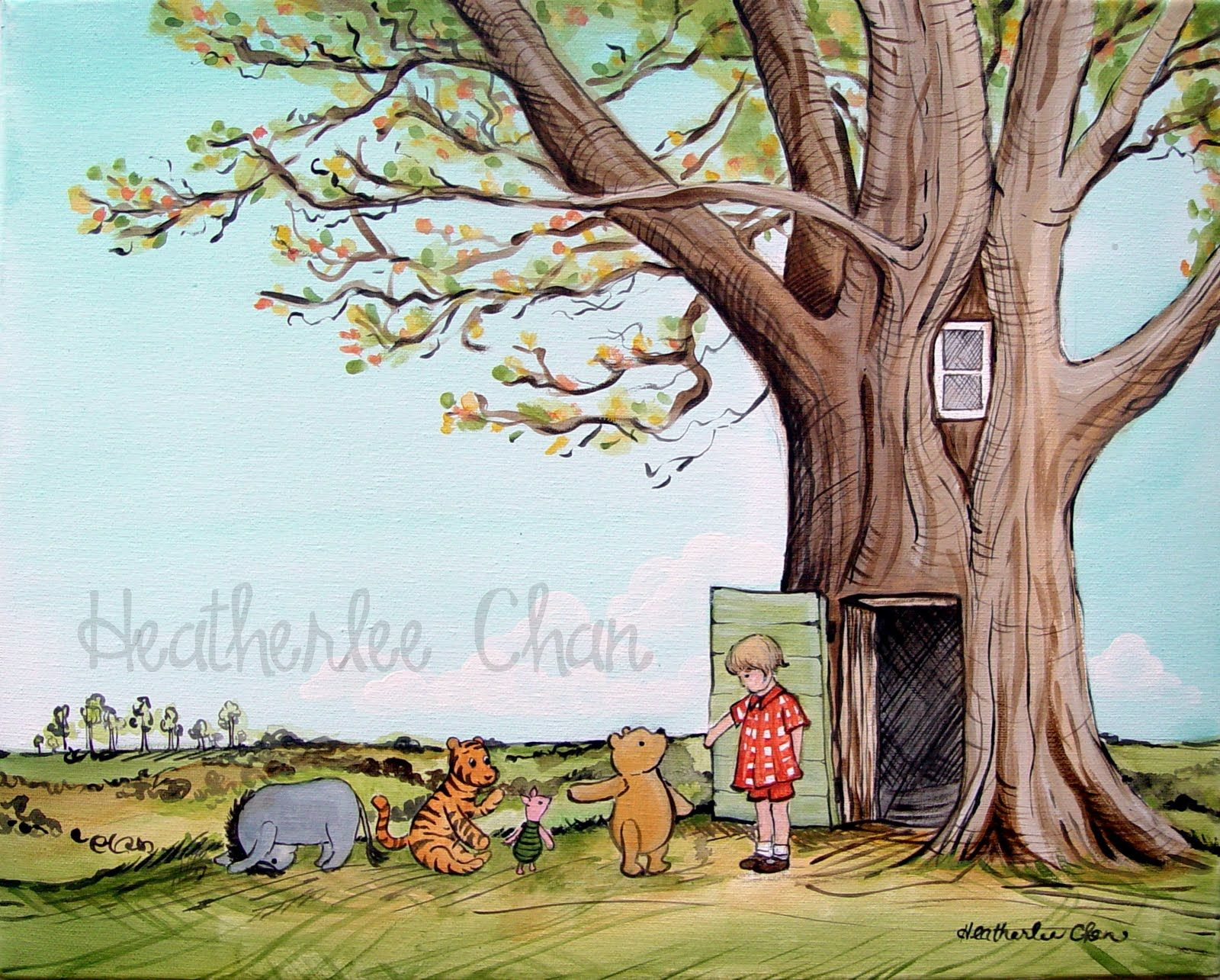 lady poppins classic winnie the pooh by the treehouse