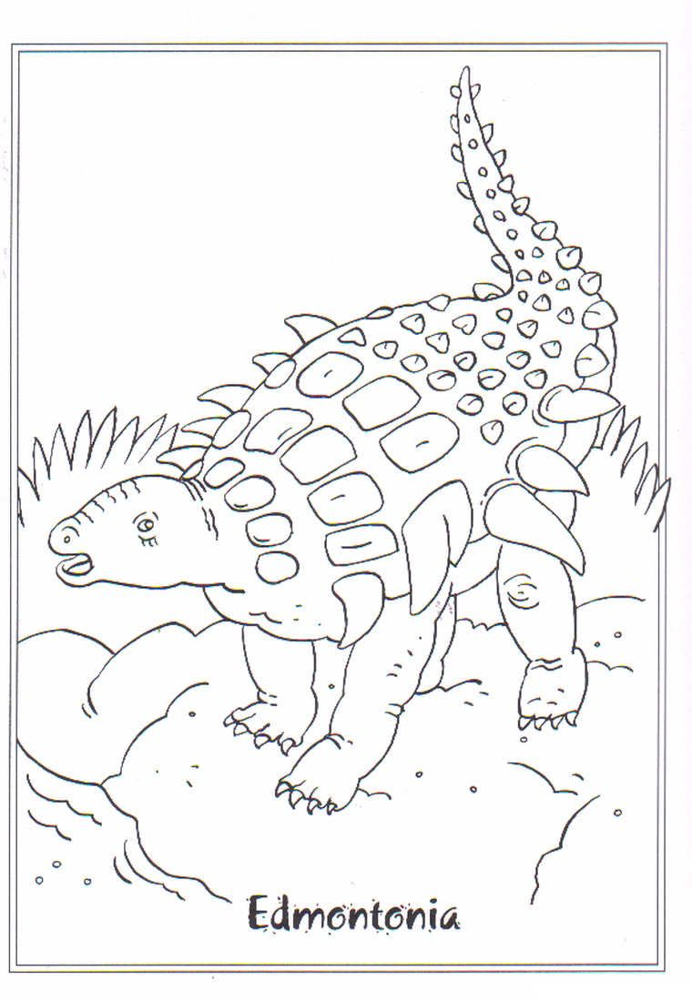 coloring page dinosaurs edmontonia coloring pages pinterest