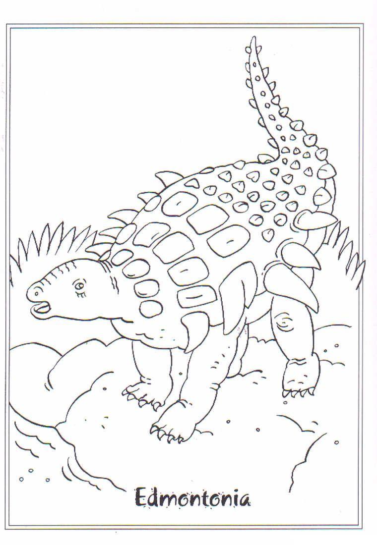 coloring page Dinosaurs 2 - Edmontonia | Dinosaurs | Pinterest ...