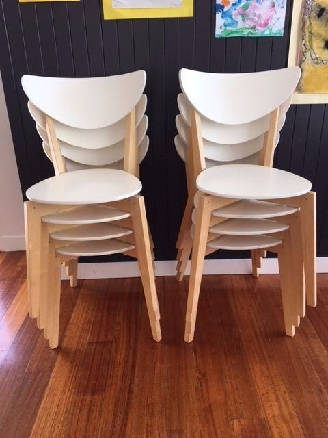 8 Ikea Nordmyra Dining Chairs Sold As Set Only Ebay Dining