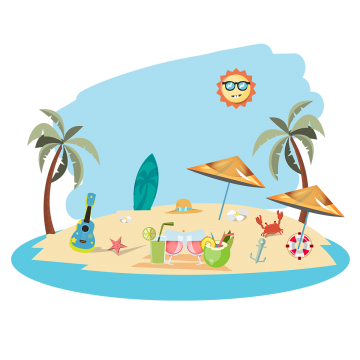 Summer With Summer Elements Illustration Summer Clipart Summer Hot Png And Vector With Transparent Background For Free Download Illustration Summer Clipart Summer Font