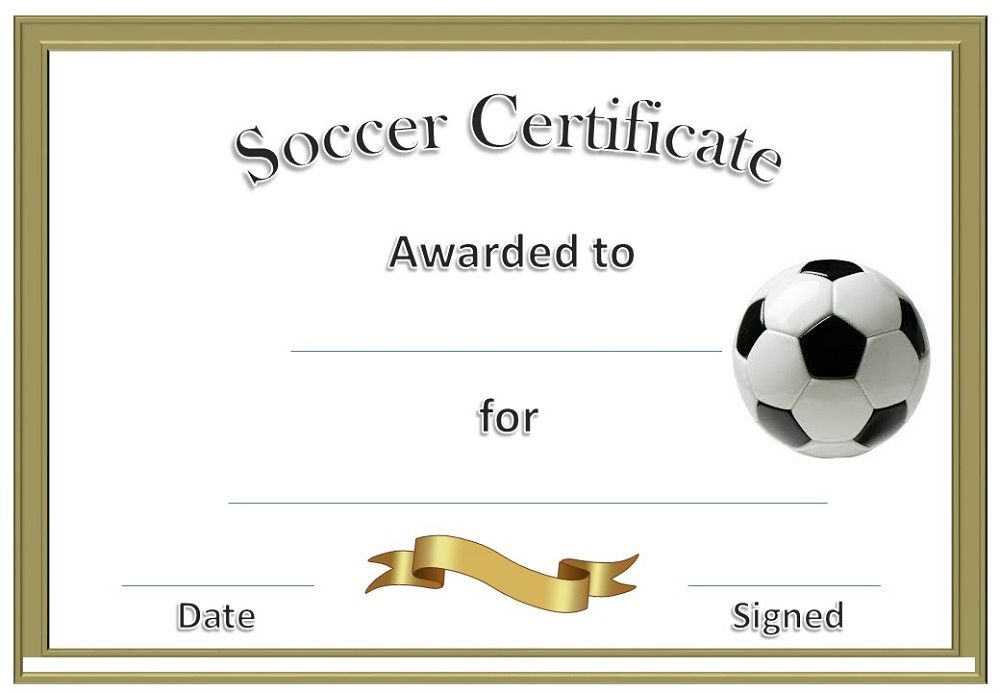 Soccer Award Certificates  Activity Shelter  Scrapbooking Sports
