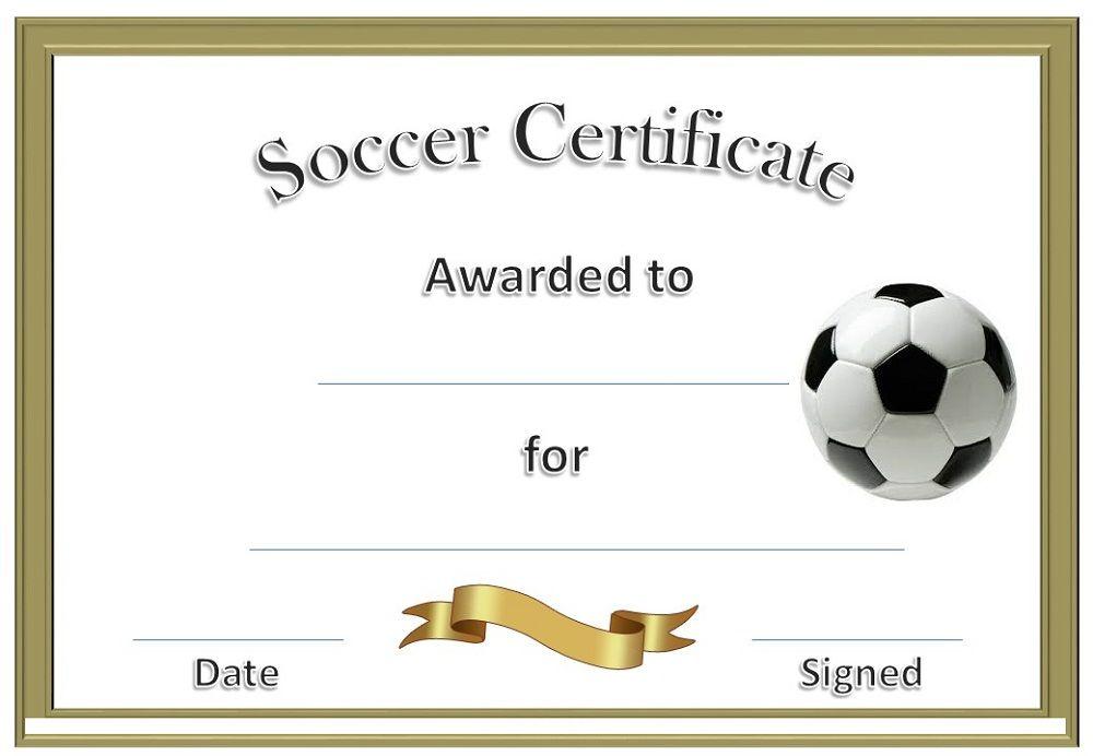 Soccer Award Certificates Activity Shelter Scrapbooking Sports