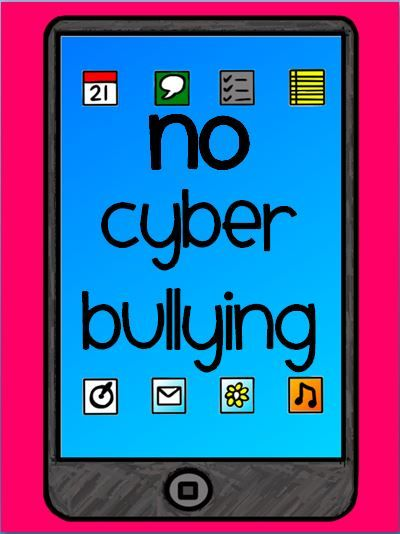 No Cyber Bullying Printable Posters And Resources To Teach Internet Safety Cyber Safety Cyber Bullying Poster Bullying Posters
