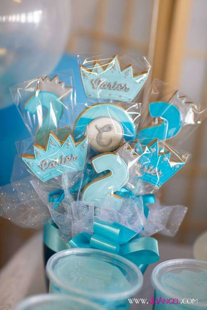 Blue Ombre Prince Birthday Party Ideas Blue ombre Prince