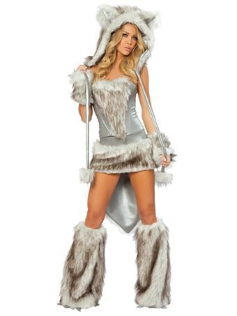 Womenu0027s Deluxe Sexy Wolf Skirt u0026 Corset Costume | Sexy Animals Halloween Costumes  sc 1 st  Pinterest & Womenu0027s Deluxe Sexy Wolf Skirt u0026 Corset Costume | Sexy Animals ...
