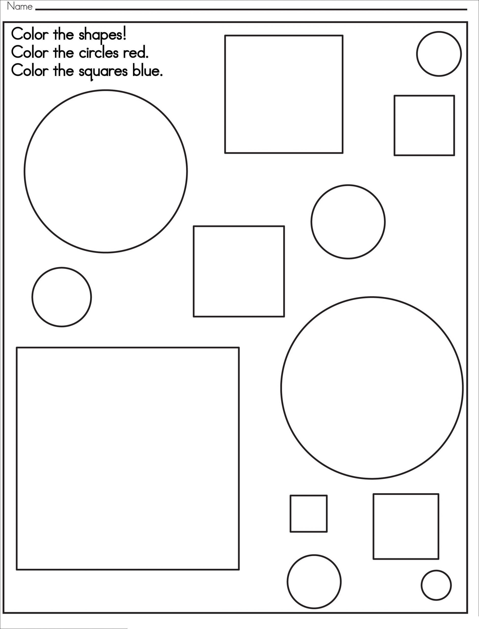Color The Shapes Worksheet in 2020 Shapes worksheets
