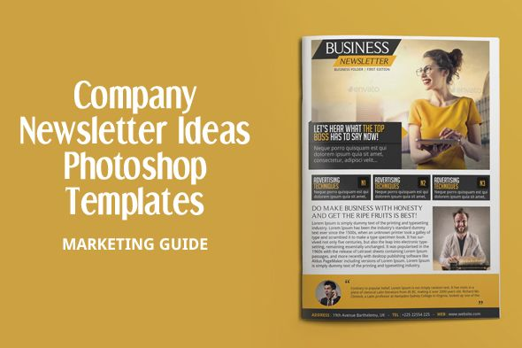 Investment Company Newsletter Template Design