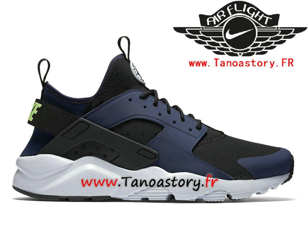 fc02663992855 Chaussures Homme Nike Air Huarache Ultra Prix Pas Cher Noir Bleu  819685 403-819685 403-Nike