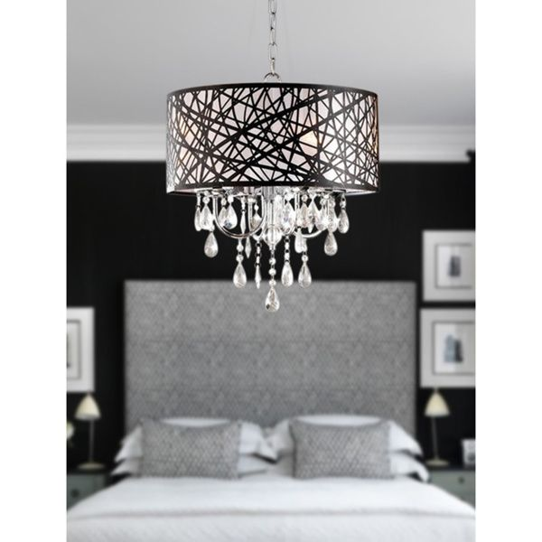 17 Best images about Lights – 4-light Chrome Crystal Chandelier