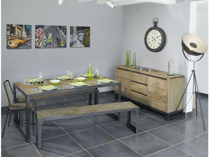 Table rectangulaire 180 cm Séjour Pinterest - Conforama Tables De Cuisine