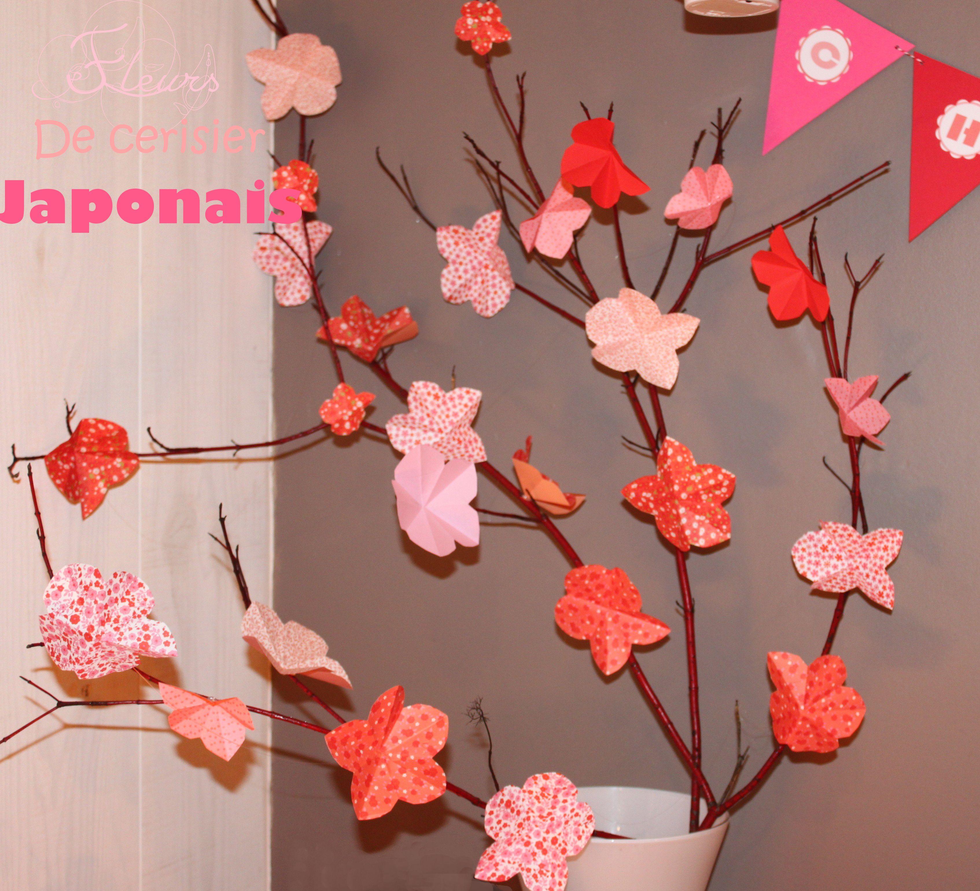 Diy cr er des fleurs de cerisiers japonais bricolage - Papier peint fleur de cerisier japonais ...