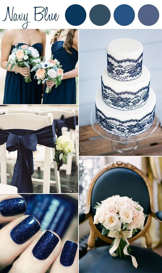 Shades Of Navy Blue Wedding Color Ideas With Images Blue